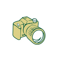 Camera dslr retro vector