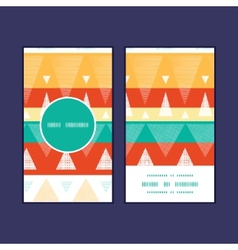 Vibrant ikat stripes vertical round frame vector