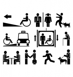 people icons pictograms vector image