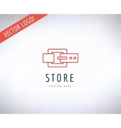 Belt logo icon Style Fashion or Shop and vector image
