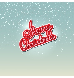 Text merry christmas on snowfall background vector