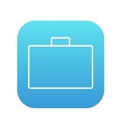 Briefcase line icon vector