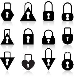 Metal locks vector