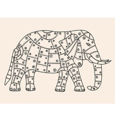 Hand drawn elephant vector
