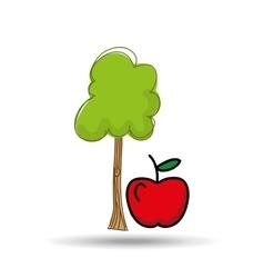 Food nature healthy vegetables vector