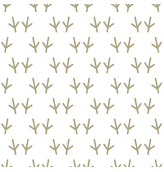 animal footprints include seamless pattern birds vector image vector image