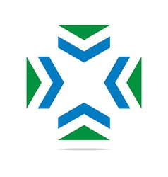 arrow letter line design symbol graphic icon vector image vector image
