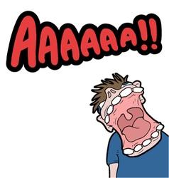 big scream vector image vector image