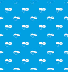 Boy head with speech bubble pattern seamless blue vector