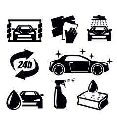 Car wash icons vector