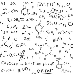 Chemistry hand draw background vector