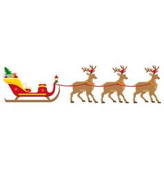 christmas santa sleigh 05 vector image