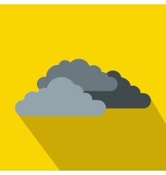 Dark storm clouds icon flat style vector