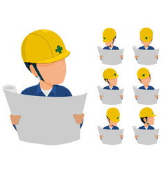 engineer read drawing vector image vector image