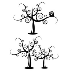 floral filigree tree vector image
