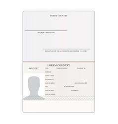 International passport people vector