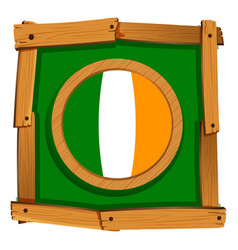 Ireland flag on square frame vector