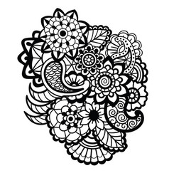 Mehndi design floral pattern vector