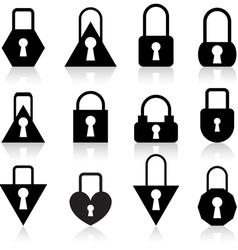 metal locks vector image
