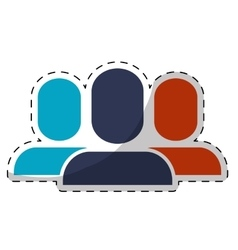 People avatar icon vector