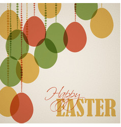Retro paper easter egg card poster vector