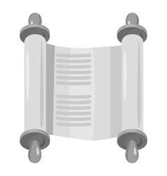 Scroll icon gray monochrome style vector