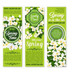 Spring time holiday wish or greeting vector