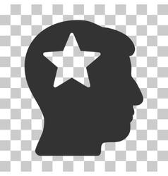 Star head icon vector
