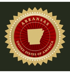 Star label arkansas vector