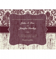 textured invitation vector image vector image