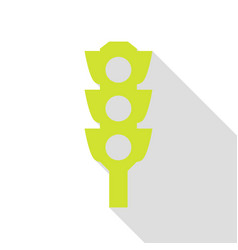 Traffic light sign pear icon with flat style vector