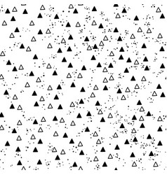 Triangles and dots vector