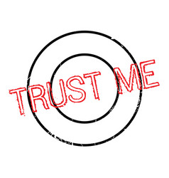 Trust me rubber stamp vector