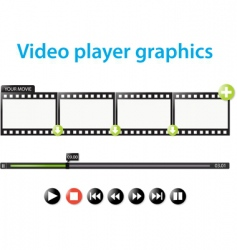 video player graphics vector image vector image