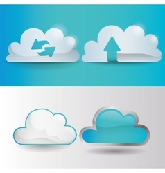 Web Hosting and Data security design vector image