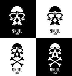 Skull logo set human skulls set vector