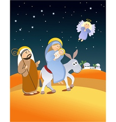 Christmas nativity scene vector image