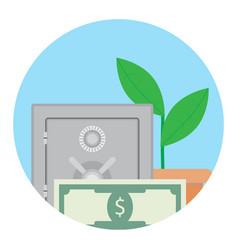 Growth deposit in bank vector