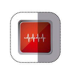 Red emblem vital sign vector