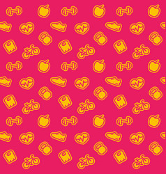 Fitness pattern bright seamless background vector