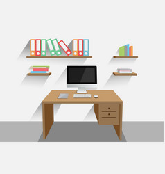 Work desk vector