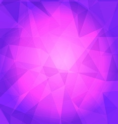 Violet triangle background vector image