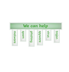 Green infographic with we can help vector