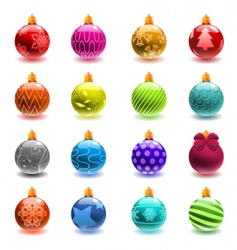 Christmas ball set vector