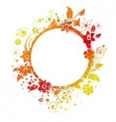 floral round frame 3 v vector image