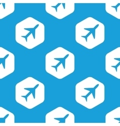 Plane hexagon pattern vector