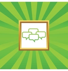 Chat conference picture icon vector