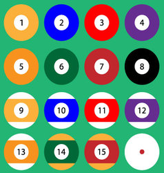 Set of billiard balls vector