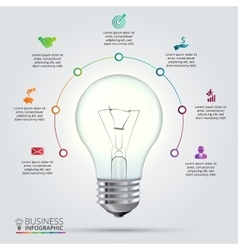 Light bulb for infographic vector