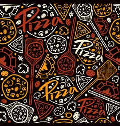 Pizzeria seamless pattern vector